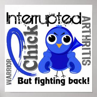 El polluelo interrumpió la artritis 3 posters