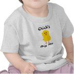 "El ""polluelo me cava"" camiseta"