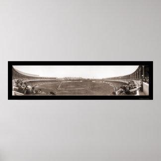 El polo de Giants pone a tierra la foto 1910 del b Póster