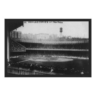 El polo pone a tierra el béisbol 1913 de la serie posters