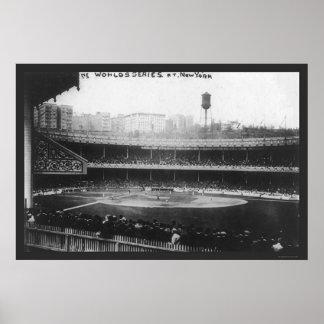 El polo pone a tierra el béisbol 1913 de la serie póster