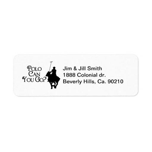 El polo puede usted ir etiqueta de remite