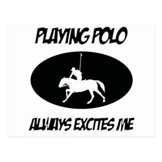 el polo se divierte diseños postal