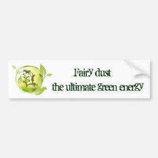 El polvo de hadas es la última energía verde etiqueta de parachoque