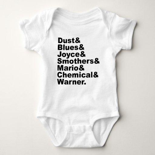 El polvo y los azules y Joyce y sofoca y Mario y Tshirts