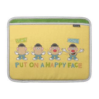 El poner en una cara feliz fundas macbook air