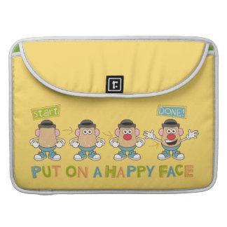 El poner en una cara feliz funda macbook pro