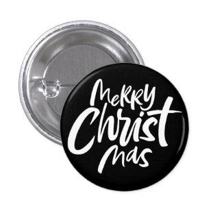 El poner letras cristiano negro intrépido de las pin redondo de 1 pulgada