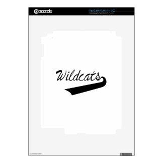 El poner letras de los gatos monteses calcomanía para el iPad 2