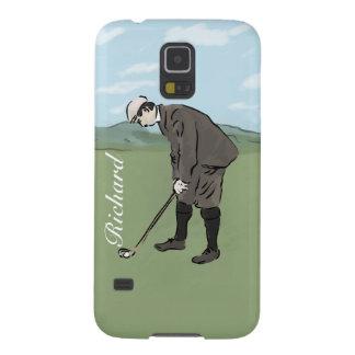 El poner personalizado del golfista del estilo del carcasa de galaxy s5