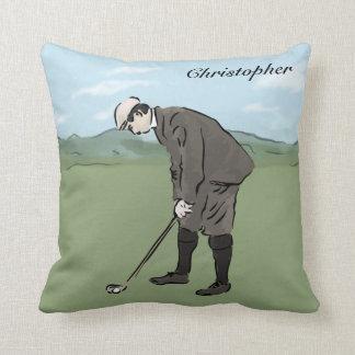 El poner personalizado del golfista del estilo del cojín