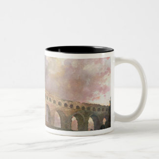 El Pont du Gard, Nimes, c.1786 Taza De Café De Dos Colores