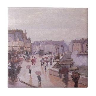 El Pont Neuf de Claude Monet Azulejo Cuadrado Pequeño