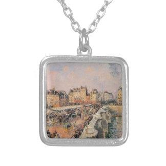 El Pont Neuf, tarde de Camille Pissarro Colgante Cuadrado