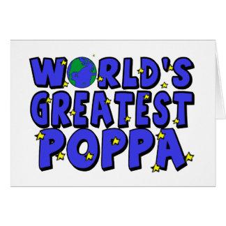 El Poppa más grande del mundo Tarjeta De Felicitación