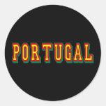 """El por Fás de """"Portugal"""" de la marca hace Futebol Pegatina Redonda"""