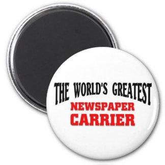 El portador más grande del periódico imán redondo 5 cm