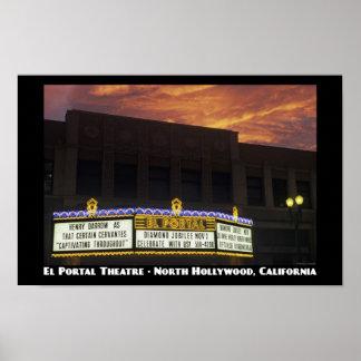 El Portal Theatre 11x17 Poster