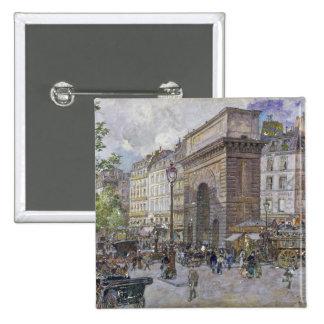 El Porte San Martín, 1898 Pin Cuadrado
