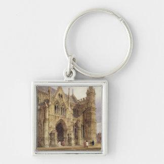 El pórtico del noroeste de la catedral de Salisbur Llavero