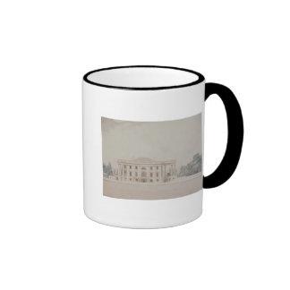 El pórtico del sur de House del presidente, 1807 Taza A Dos Colores