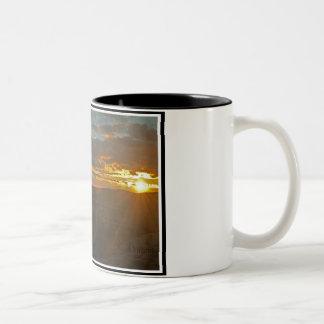 EL Portillo del en de Puesta Tazas De Café