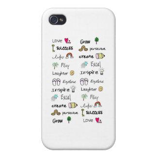 El positivo redacta la piel de Iphone 4 iPhone 4/4S Funda