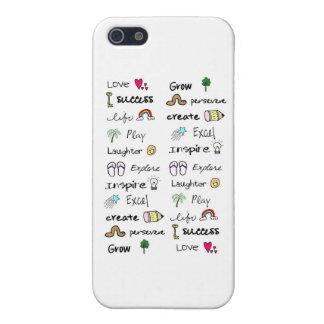El positivo redacta la piel de Iphone 4 iPhone 5 Fundas