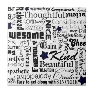 El positivo redacta tipografía azulejos