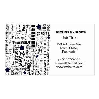 El positivo redacta tipografía tarjetas de visita