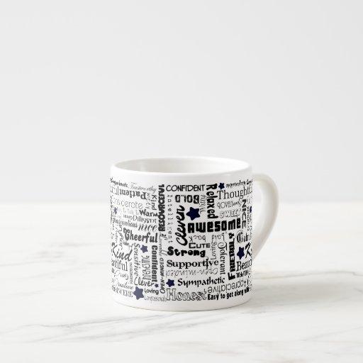 El positivo redacta tipografía taza espresso
