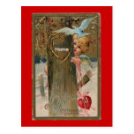 El Postal-Vintage Tarjeta del día de San Valentín-