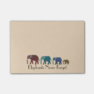El Poste-it® de los elefantes africanos observa 4 Nota Post-it