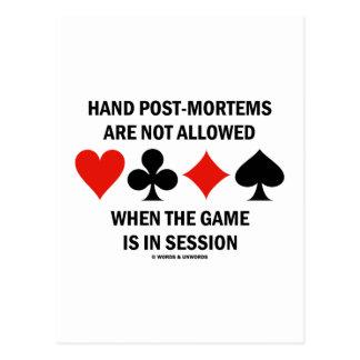 El Poste-Mortems de la mano no se permite (el jueg Tarjetas Postales
