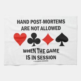 El Poste-Mortems de la mano no se permite (el Toalla