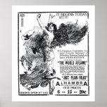 """""""El poster 1919 del anuncio de la película del vin"""