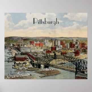 El poster 1931 del punto de Pittsburgh