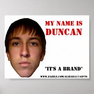 El poster 2010, mi nombre es Duncan