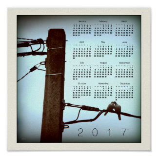 El poster 2017 del calendario del cuadrado del póster