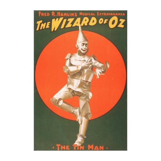 """""""El poster #2 del teatro musical de mago de Oz"""" Lona Envuelta Para Galerias"""