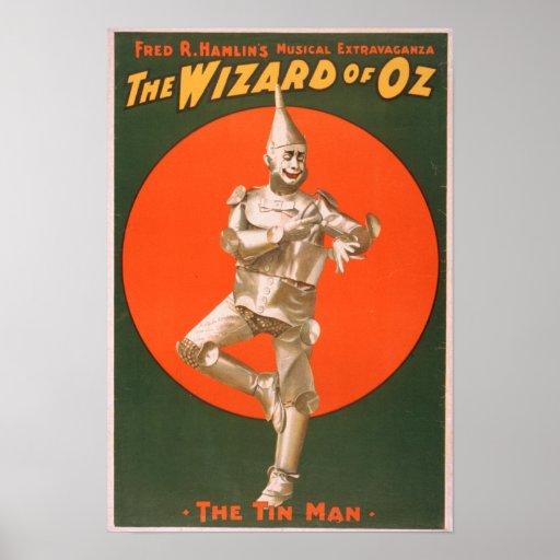 """El poster #2 del teatro musical de mago de Oz"" Póster"