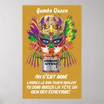 """El poster 38"""" de la reina del Gumbo del festival x"""