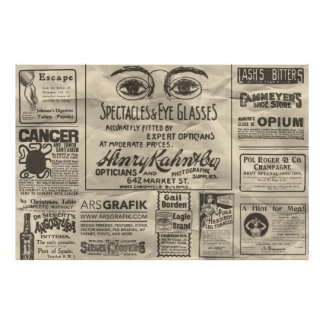 El poster 60x40 de los anuncios de periódico del v póster