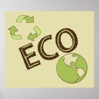 El poster amistoso ecológico de la tierra de Eco r