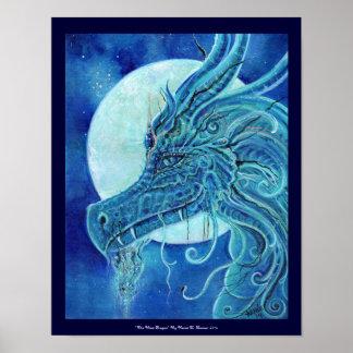 El poster azul del dragón de Renee Lavoie