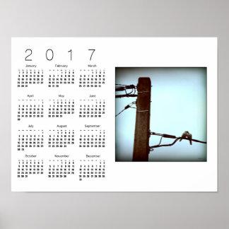 El poster blanco 2017 del calendario del BESO Póster