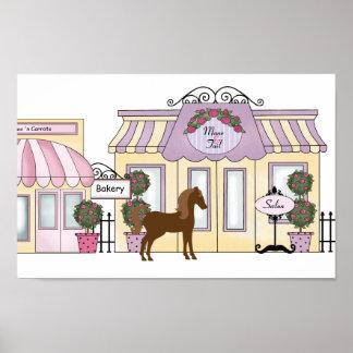 """El poster bonito 14"""" del caballo de Ashley del"""