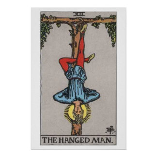 El poster colgado de la carta de tarot del hombre