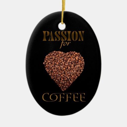 El poster con los granos de café en la forma del c adornos de navidad