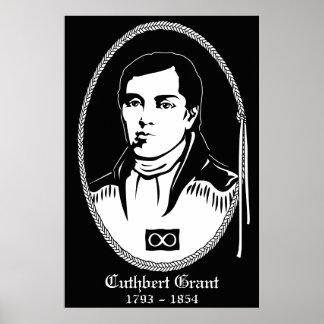 El poster Cuthbert Grant del héroe de Metis